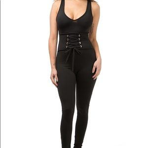 d0d55e5cfd7 Pants - ✨SALE✨ Sexy Black fitted Romper with corset waist